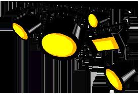 Sound and Lighting Hire - Gold Coast - Lights camera action logo