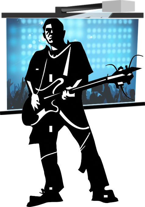 Sound and Lighting Hire - Gold Coast - Vocal screen person